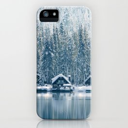 Winter's Cottage (Color) iPhone Case