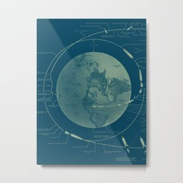 From the Earth to the Moon Metal Print
