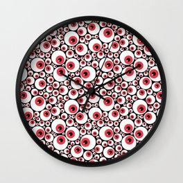 Red Eyeballs Wall Clock