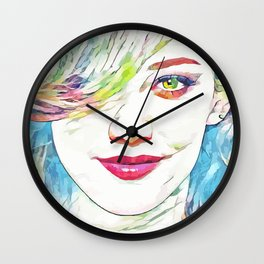 Hilary Duff (Creative Illustration Art) Wall Clock