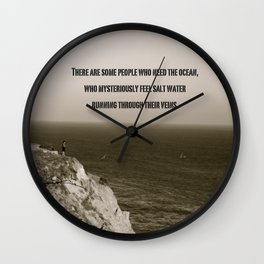 There are some people who need the ocean Wall Clock