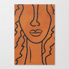 Janie line art Canvas Print