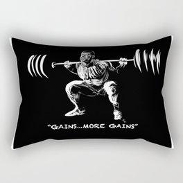 Zombie Squats (More Gains) Rectangular Pillow