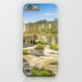 Devil Throat Waterfalls from Brazilian Border iPhone Case