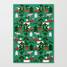 Christmas evergreens Canvas Print