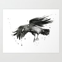 raven Art Prints featuring Raven by Olechka