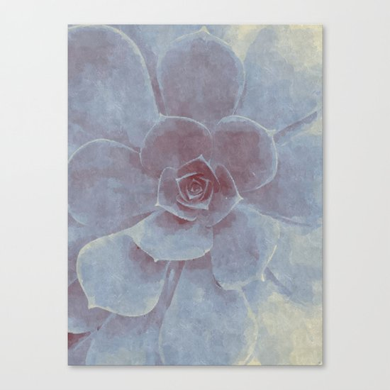 Geometric Succulent Canvas Print