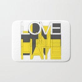 HATE LOVE Bath Mat