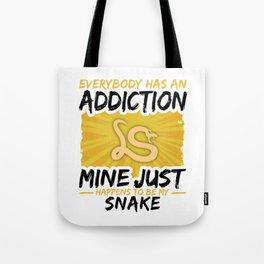Snake Addiction Funny Farmer Animal Lover Tote Bag