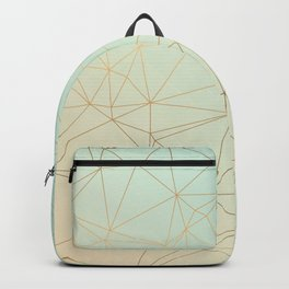 Pastel Geometric Minimalist Pattern Backpack