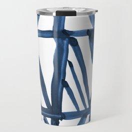 Geometric Indigo Travel Mug