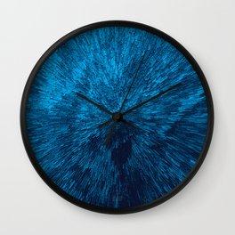 Bold Burst in Blue Wall Clock