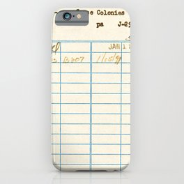 Library Card 797.B7 iPhone Case