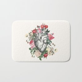 Roses for her Heart Bath Mat