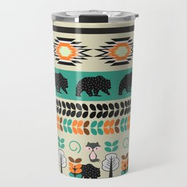 Native spirit with foxes and bears Travel Mug