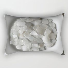 White on White on White Rectangular Pillow