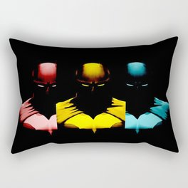 Rainbow Batmen Rectangular Pillow