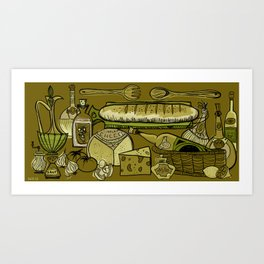 My Mid-Century Kitchen Art Print