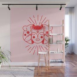 The healing pug Wall Mural