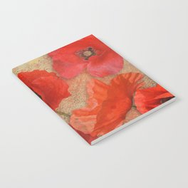 Red as Poppies can be Notebook
