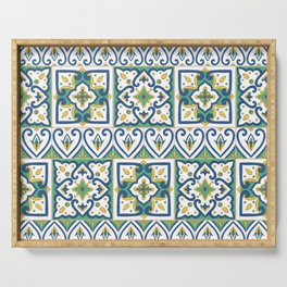 Italian Tile Pattern – Sicilian ceramic from Caltagirone Serving Tray