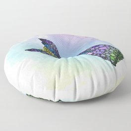 Mermaid Tail - Abstract Sea - Ocean Life Fantasy - 57 Montgomery Ave Floor Pillow