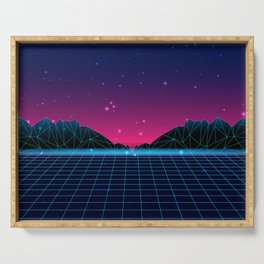 Chillwave Synthwave Serving Tray