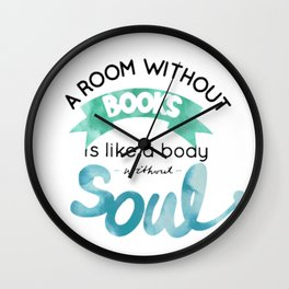 a room without a books Wall Clock