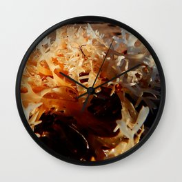 Seaweed on the Beach Wall Clock