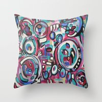 maps Throw Pillows featuring Maps by Mary Gaspar