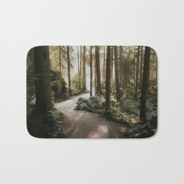 Lost in the Forest - Landscape Photography Bath Mat