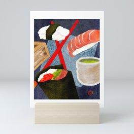 Dreams of Sushi, Sake, and Tea Mini Art Print