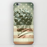 lincoln iPhone & iPod Skins featuring Lincoln by Gusvili