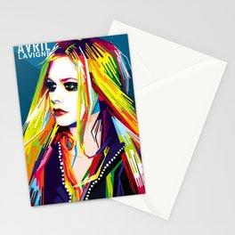 WPAP Avril Lavigne Stationery Cards