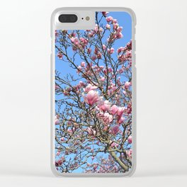 Blooming Magnolias Clear iPhone Case