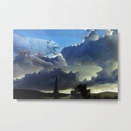 Lion Sky Metal Print