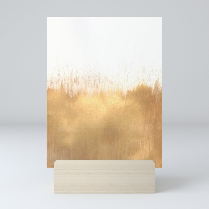 Brushed Gold Mini Art Print