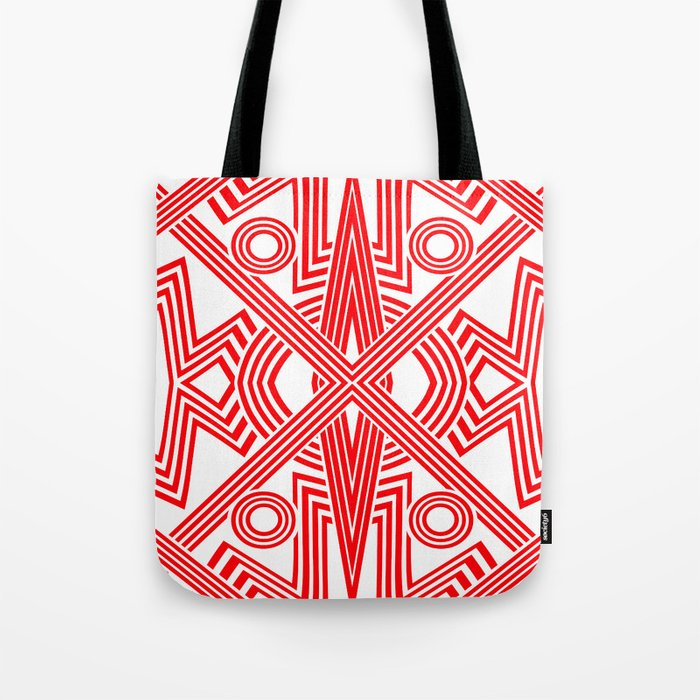 Red And White Stripes Tote Bag