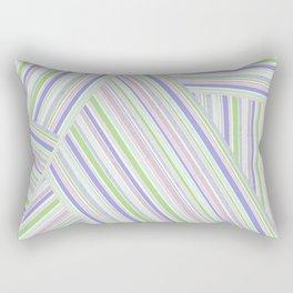 Abstract striped pattern. Rectangular Pillow