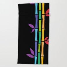 Rainbow Bamboo Beach Towel