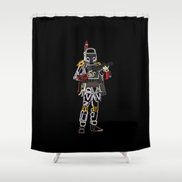 Boba Font Shower Curtain