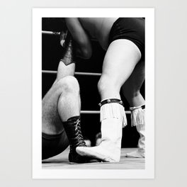 wrestling boots Art Print