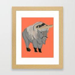Bisonte Fernández Framed Art Print