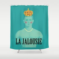 thrones Shower Curtains featuring La jalousie by Laura Nadeszhda