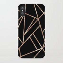 Classic Black Rose Gold Geo #1 #geometric #decor #art #society6 iPhone Case