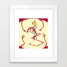 Fear Of Touch Framed Art Print