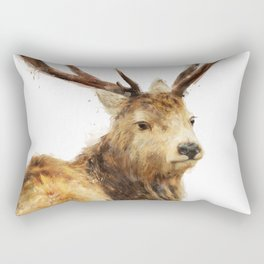 Winter Red Deer Rectangular Pillow