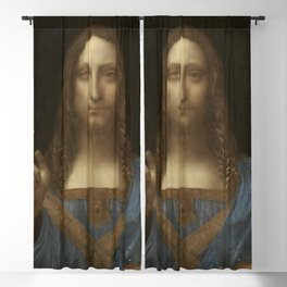 Salvator Mundi, Leonardo Da Vinci, Classic Painting Blackout Curtain