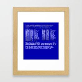 Bluescreen Framed Art Print