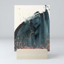 Sapphire an Gold Abstract [2] by Alyssa Hamilton Art Mini Art Print